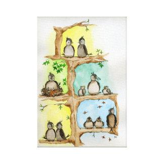 Impressão Em Tela Família de pássaro/primavera, verão, outono &