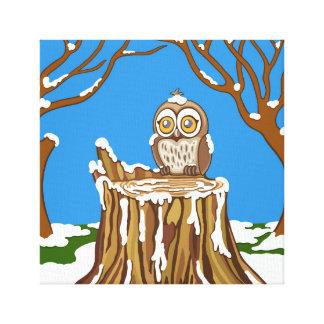 Impressão Em Tela Floco de neve a coruja