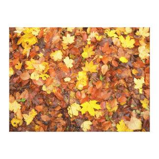 Impressão Em Tela Folhas de outono