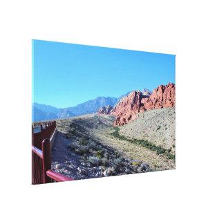 Impressão Em Tela Formação de rocha vermelha da garganta da rocha