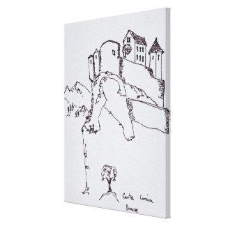 Impressão Em Tela Fortaleza da cume de Corte | Córsega, France