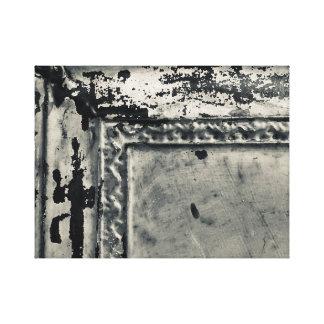 Impressão Em Tela Foto antiga do azulejo da lata na arte da parede
