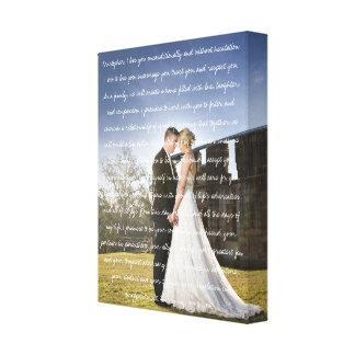 Impressão Em Tela Foto feita sob encomenda & votos do casamento