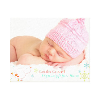Impressão Em Tela Foto lunática do bebé do Natal