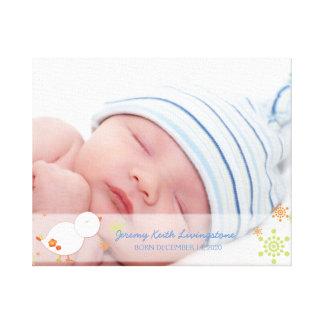 Impressão Em Tela Foto nova do bebé do pássaro do inverno