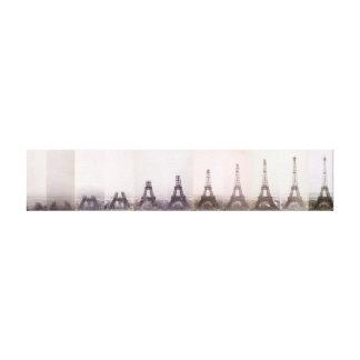 Impressão Em Tela Foto Paris da construção da torre Eiffel do