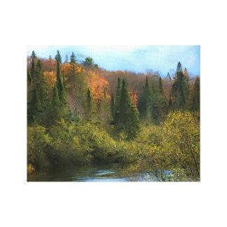 Impressão Em Tela Fulgor do outono da paisagem da árvore