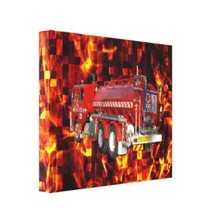Impressão Em Tela Gráfico do polígono da viatura de incêndio no
