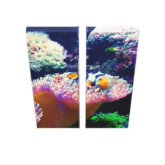Impressão Em Tela Imagem dos peixes do palhaço da vida marinha