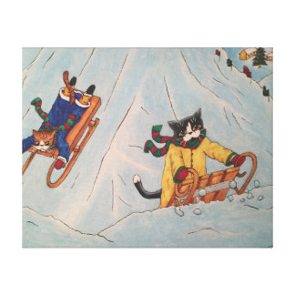 Impressão Em Tela Inverno clássico Sledging