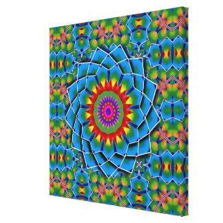 Impressão Em Tela K125 mosaico colorido Kali