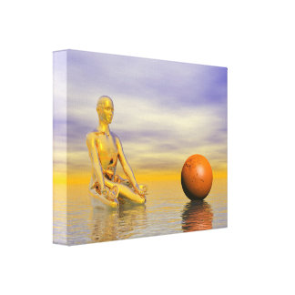 Impressão Em Tela laranja do chakra
