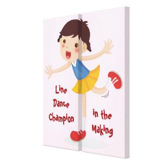 Impressão Em Tela Linha dançarino no fazer! - Menina