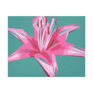 Impressão Em Tela Lírio floral abstrato do verão