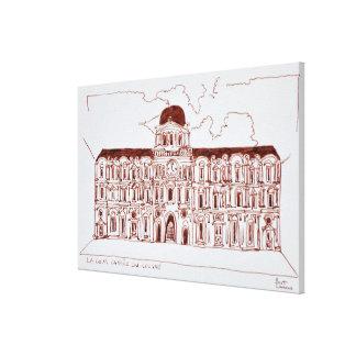 Impressão Em Tela Louvre do pátio | de Cour Carree do La, Paris,