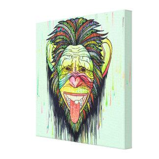 Impressão Em Tela Macaco engraçado