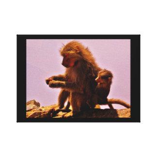 Impressão Em Tela Mamã e bebê