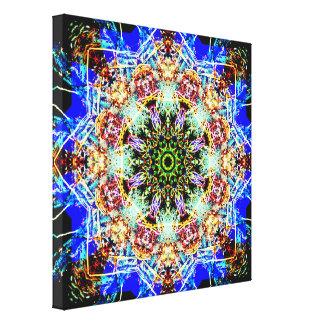 Impressão Em Tela Mandala colorida das estrelas