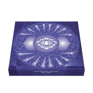 Impressão Em Tela Mandala de Chakra do terceiro olho