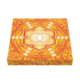 Impressão Em Tela Mandala sacral de Chakra