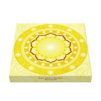 Impressão Em Tela Mandala solar de Chakra