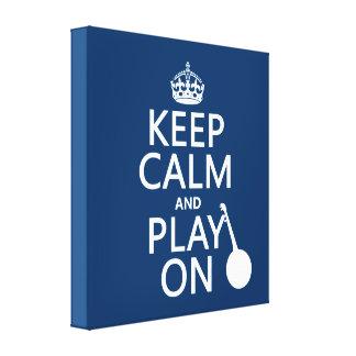 Impressão Em Tela Mantenha a calma e o jogo em (banjo) (alguma cor