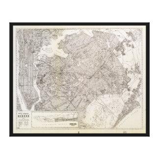 Impressão Em Tela Mapa metropolitano de Queens, New York (1922)
