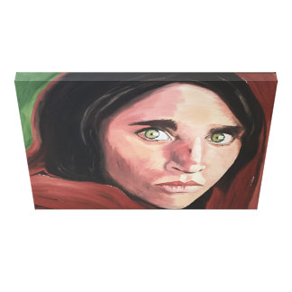 Impressão Em Tela Menina afegã