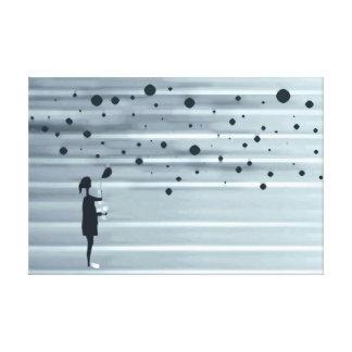 Impressão Em Tela menina e bolhas