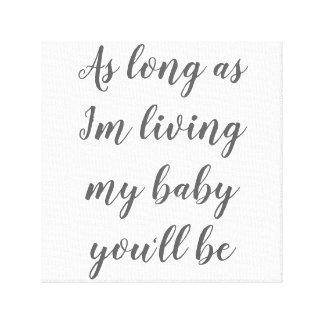 Impressão Em Tela Meu bebê você será