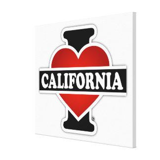 Impressão Em Tela Mim coração Califórnia