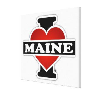Impressão Em Tela Mim coração Maine