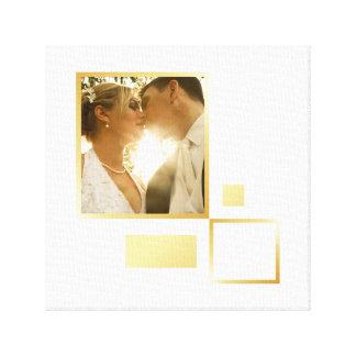 Impressão Em Tela modelo feito sob encomenda da foto do casamento,