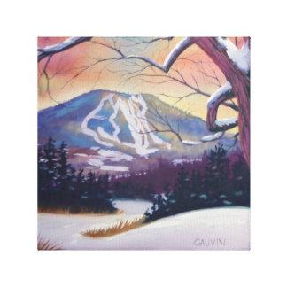 Impressão Em Tela Montanha nevado de Burke
