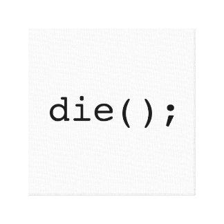 Impressão Em Tela morra