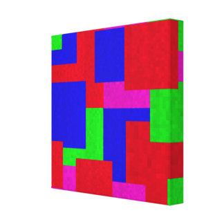Impressão Em Tela Mosaico abstrato blocos coloridos,
