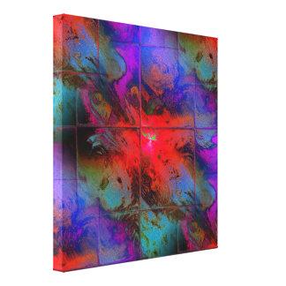 Impressão Em Tela Mosaico coral