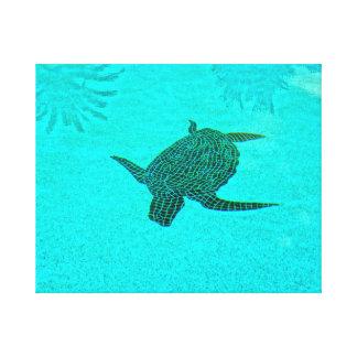 Impressão Em Tela Mosaico da tartaruga de Tortuga na ilha Florida de