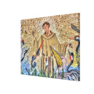 Impressão Em Tela Mosaico de Francisco de Assis