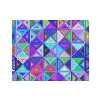 Impressão Em Tela Mosaico do azulejo do triângulo