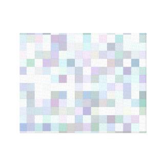 Impressão Em Tela Mosaico quadrado pálido