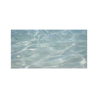 Impressão Em Tela Natureza das caraíbas do azul do abstrato da água