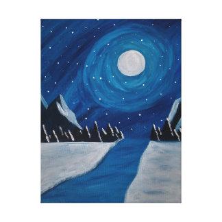 Impressão Em Tela noite da montanha