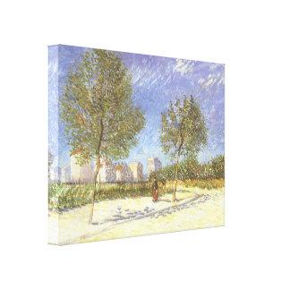Impressão Em Tela Nos subúrbios de Paris por Vincent van Gogh