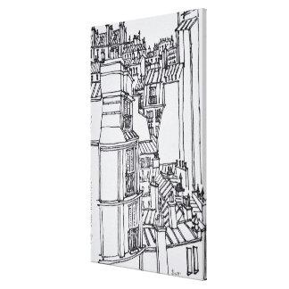 Impressão Em Tela O estilo de Haussmann telha | Paris, France