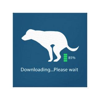Impressão Em Tela O ícone engraçado do cão que transfere por favor