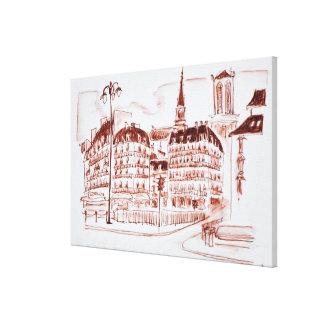 Impressão Em Tela O La menciona e o Notre Dame de Paris | Paris,