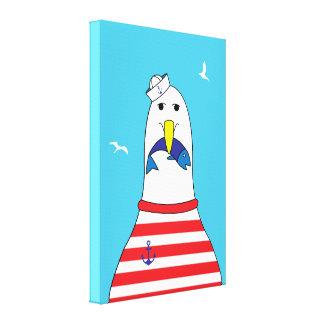Impressão Em Tela O pássaro engraçado da gaivota dos desenhos