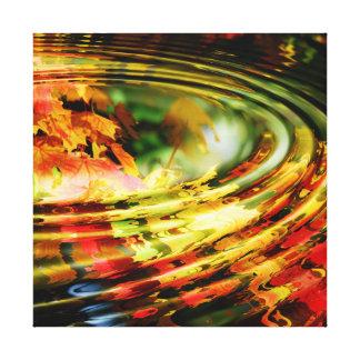 Impressão Em Tela Ondinha da folha do outono