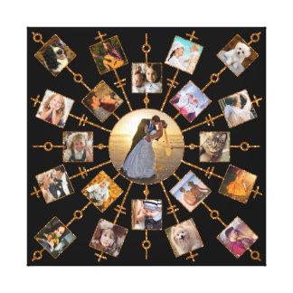 Impressão Em Tela Ouro preto bonito das imagens da colagem 21 da
